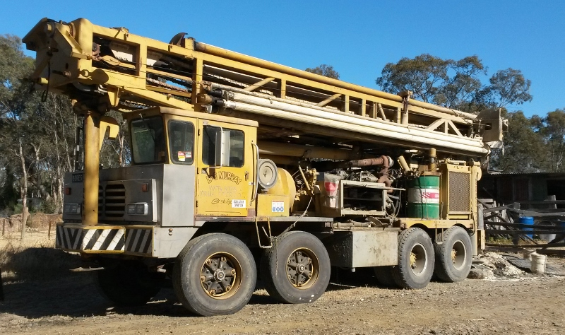 Murrays Bore drilling truck